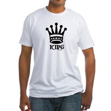 Black King Symbol Fitted T-shirt