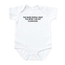 Coonhound: people I meet Infant Bodysuit