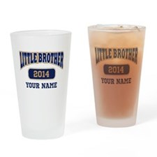Custom Little Brother Drinking Glass
