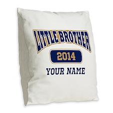 Custom Little Brother Burlap Throw Pillow