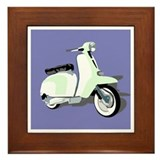 Mod Scooter Framed Tile