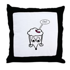 Oy Poodle Fifi Throw Pillow