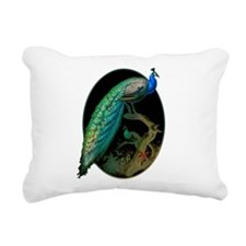 Vintage Peacock Rectangular Canvas Pillow