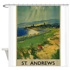 St. Andrews,Scotland, Golf, Vintage Poster Shower