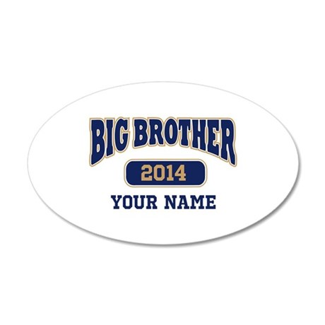 Personalized Big Brother 35x21 Oval Wall Decal
