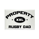 Property of Rugby Dad Rectangle Magnet (100 pack)