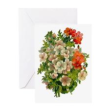 Beautiful Floral Motif Greeting Card