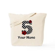 5th Birthday Ladybug Tote Bag
