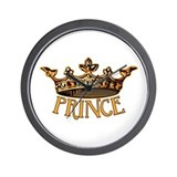 PRINCE Crown Wall Clock