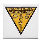War Dept OSS Tile Coaster