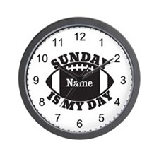 Personalized Sunday is My Day Wall Clock
