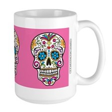 SugarSkull Halloween Pink Mugs
