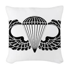 Airborne stencil Woven Throw Pillow