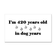 60 dog years 3-2 Rectangle Car Magnet