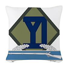 26th Infantry CIB Woven Throw Pillow