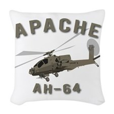 Apache AH-64 Woven Throw Pillow