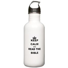 KEEP CALM AND READ THE BIBLE Water Bottle