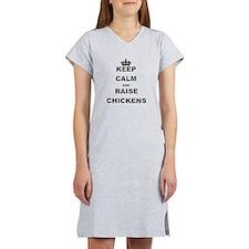 KEEP CALM AND RAISE CHICKENS Women's Nightshirt