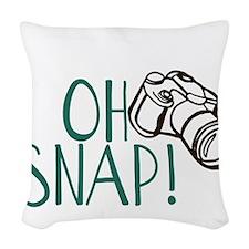 OH SNAP! Woven Throw Pillow