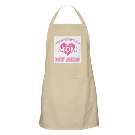 Property My Kids Pink BBQ Apron