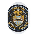 Oregon State Police Oval Ornament