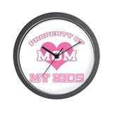 Property My Kids Pink Wall Clock