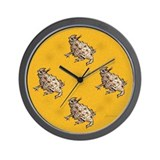 Horned Lizard Horny Toad Wall Clock