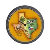 Texas Symbols Wall Clock