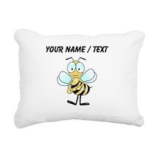 Custom Cartoon Bee Rectangular Canvas Pillow