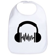 Headphones Frequency DJ Bib
