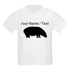 Custom Black Hippo Silhouette T-Shirt