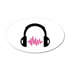 Headphones Frequency Pulse Wall Decal