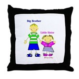 Big Brother Little Sister Throw Pillow
