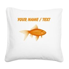Custom Goldfish Square Canvas Pillow