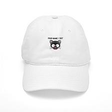 Custom Cartoon Cat Face Baseball Cap