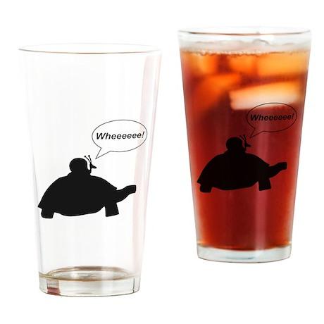 Snail Turtle Wheeee Drinking Glass