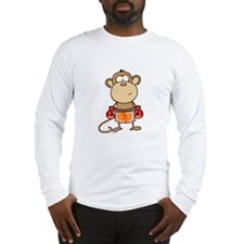 Boxing Monkey Long Sleeve T-Shirt
