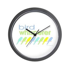 bird whisperer Wall Clock