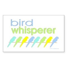 bird whisperer Rectangle Decal