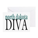 North Dakota Diva Greeting Cards (Pk of 10)