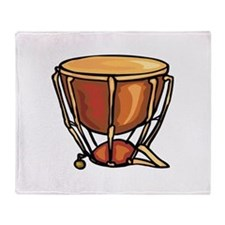 tympani drum percussion design Throw Blanket