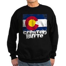 Crested Butte Grunge Flag Sweatshirt
