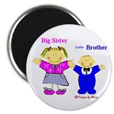 "Big Sister and Little Brother 2.25"" Magnet (10 pac"