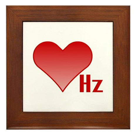 Love Hertz Framed Tile