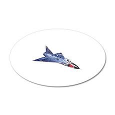 F-102 Delta Dagger 20x12 Oval Wall Decal