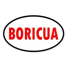 BORICUA... Oval Decal