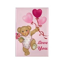 Balloon Teddy Rectangle Magnet (100 pack)