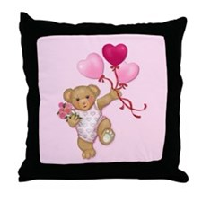 Balloon Teddy Throw Pillow