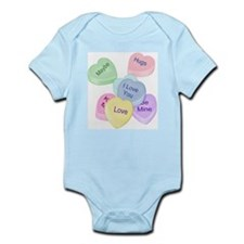 Valentine Candy Hearts Infant Bodysuit