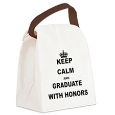 KEEP CALM AND GRADUATE WITH HONORS Canvas Lunch Ba
